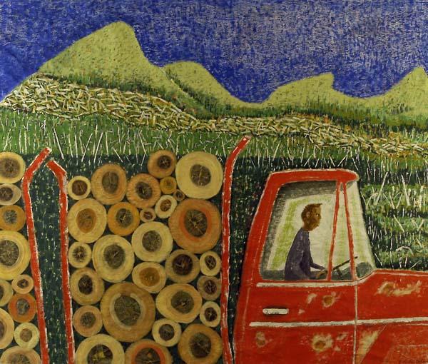 Claude DE GASPé ALLEYN - Transport de bois (Hautes Laurentides) 2010