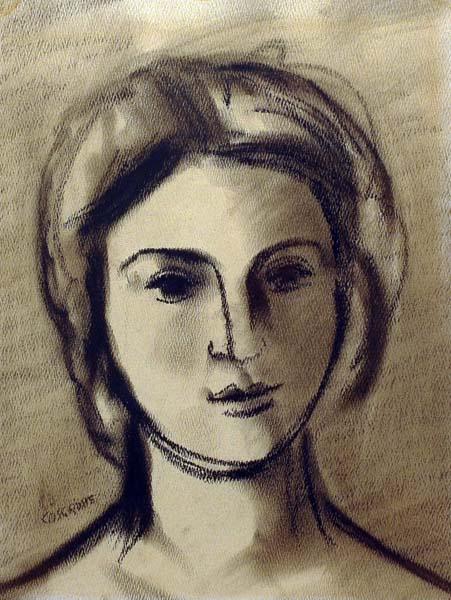 Stanley COSGROVE - Tête de jeune femme (1960)