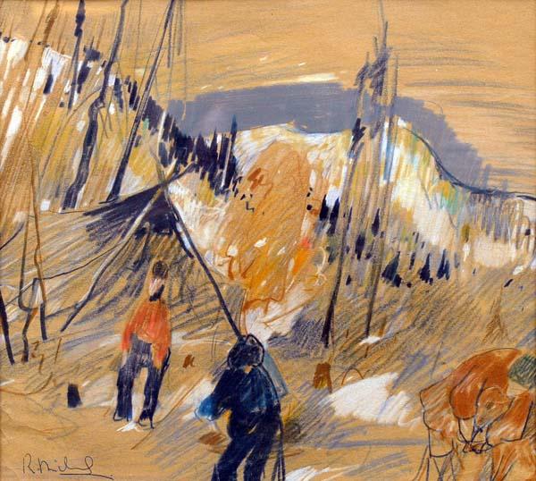 René RICHARD - Campement de trappeurs (1945)