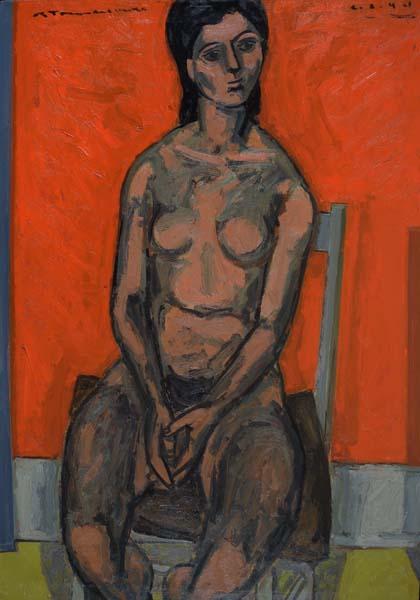 Jacques DE TONNANCOUR - Étude de nu (1944)