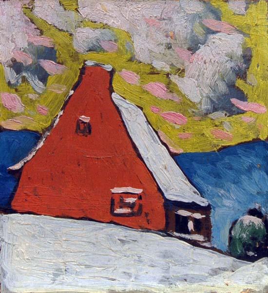 Marc-Aurèle FORTIN - Maison rouge en hiver (1918)