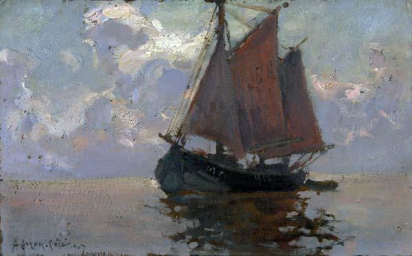 Marc Aurèle SUZOR-CôTé - Bisquine dans la Baie du Mont-Saint-Michel (1907)