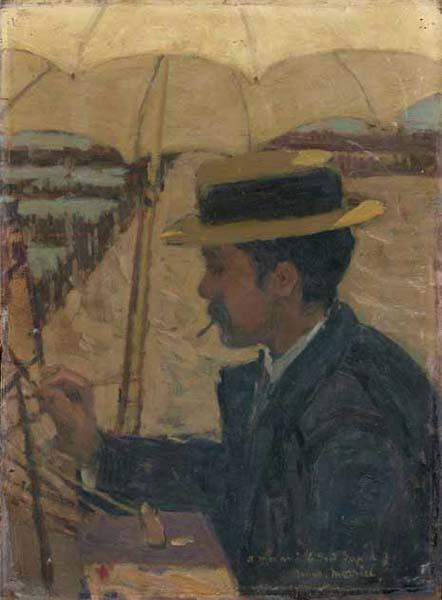 James Wilson MORRICE - Le peintre Le Gout Gérard sur le motif (c. 1896)