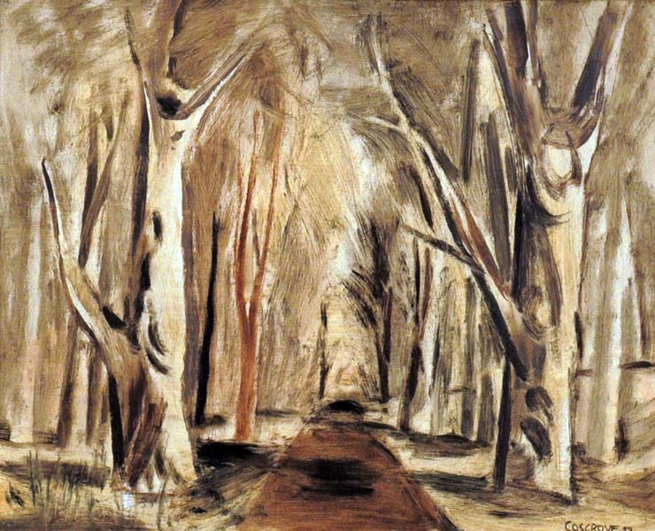 Stanley COSGROVE - Sunlit Forest Path (1952)