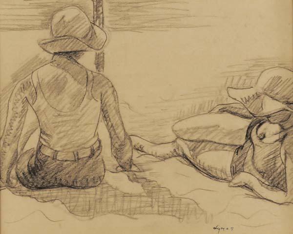 John LYMAN - Deux baigneuses à St-Jean-de-Luz (c. 1928)