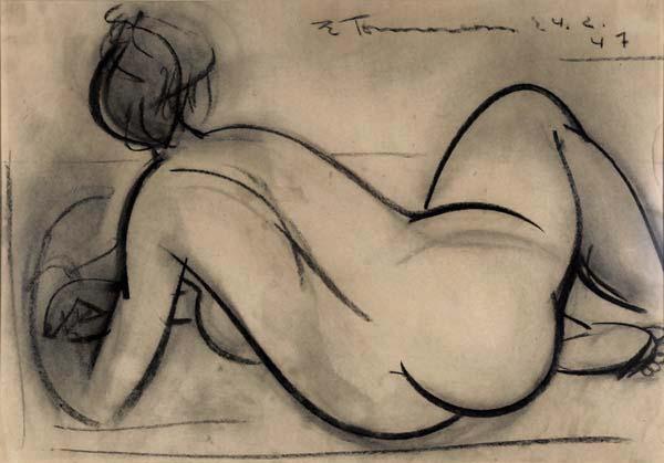 Jacques DE TONNANCOUR - Nu vu de dos (1947)