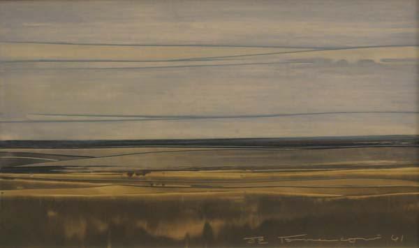Paysage abstrait (1961) - Jacques de Tonnancour