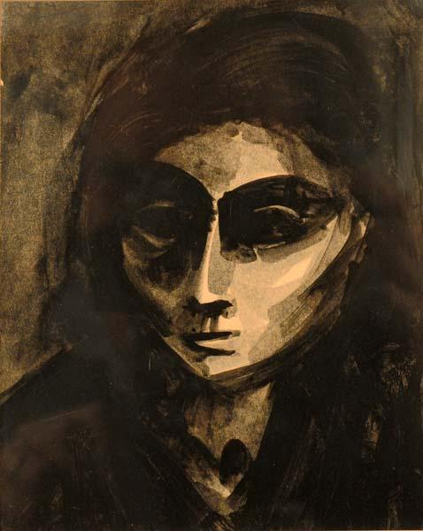 Portrait de femme (c. 1943) - Jacques de Tonnancour