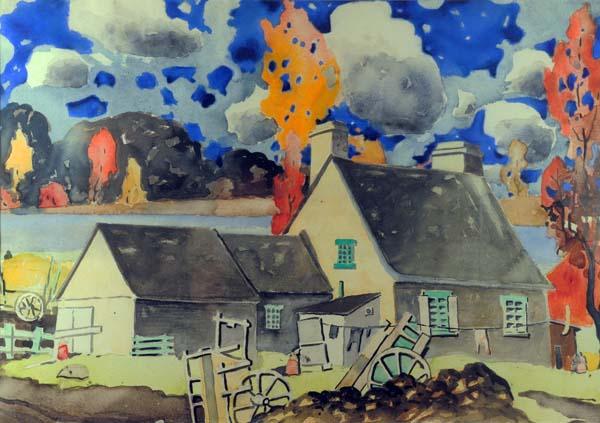 Marc-Aurèle FORTIN - Maison québécoise (c. 1923)