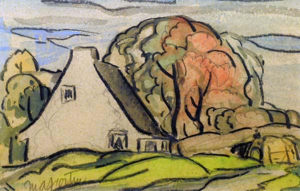 Marc-Aurèle FORTIN - Maison, Ste-Rose (c. 1950)