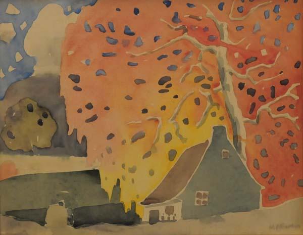 Marc-Aurèle FORTIN - Arbre d'automne (c. 1925)