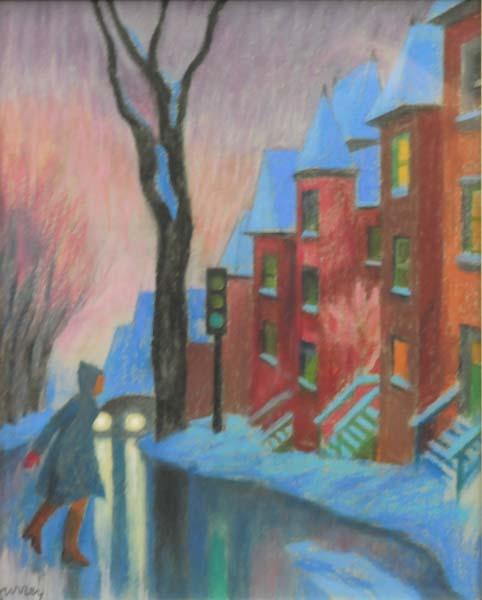 Philip SURREY - Winter Street Scene (1969)