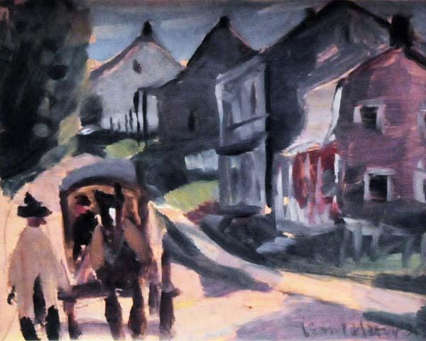 Jean PALARDY - Voiture du boucher, St-Urbain (c. 1935)