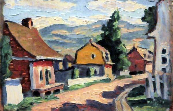 Scène de village, Baie St-Paul (c. 1930) - Jean Palardy