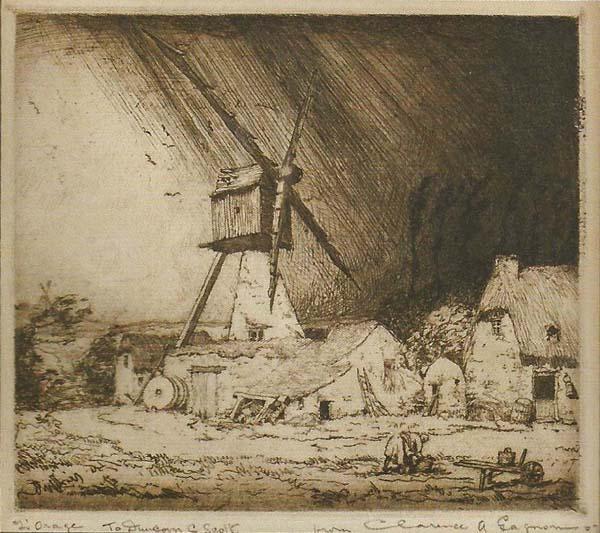 Clarence A. GAGNON - L'orage (1907)