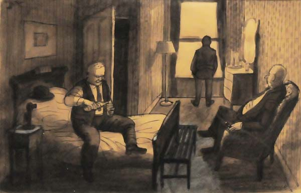 Philip SURREY - Untitled (Hotel Room) 1947