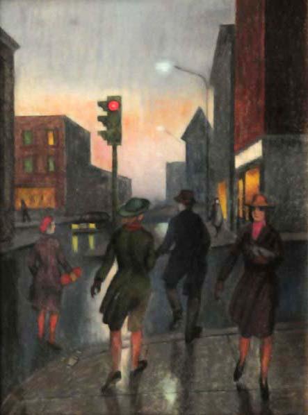 Philip SURREY - Scène de rue à Montréal (c. 1965)