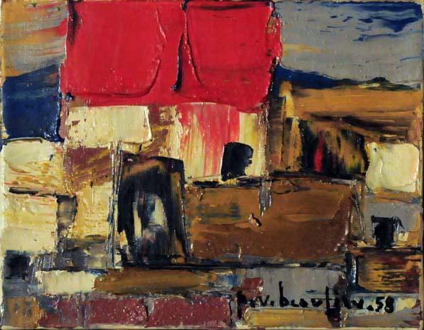 Paul-Vanier BEAULIEU - Sans titre (Mougins) 1958