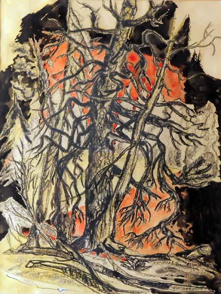 Fritz BRANDTNER - Study of Trees, Georgian Bay (c. 1938)