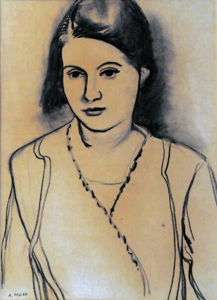 Alfred PELLAN - Jeune fille (c. 1940)