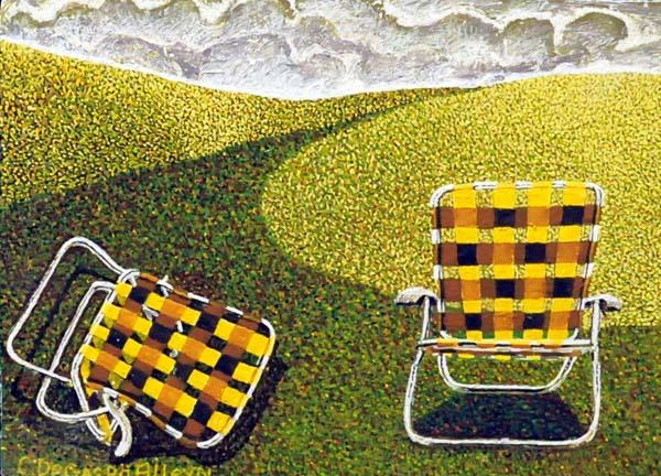 Claude DE GASPé ALLEYN - Deux chaises