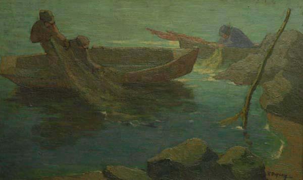 Rodolphe DUGUAY - La levée des filets (c. 1926)