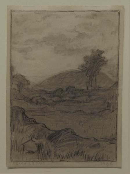 Ozias LEDUC - Montagne au loin (1936)