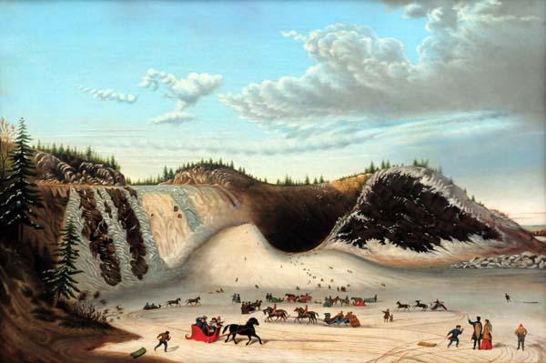 D après Kriéghoff INCONNU (SIGNé M. A. WILSON) - Le cône de glace de la Chute Montmorency (après 1853)