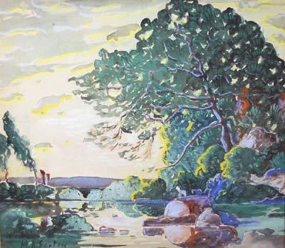 Marc-Aurèle FORTIN - Paysage d'été (1921)